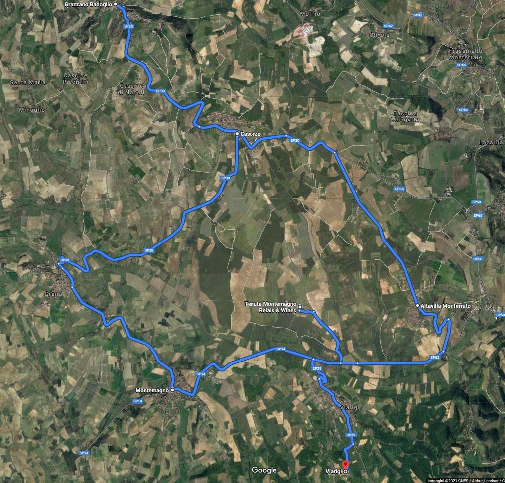 cartina Itinerario Monferrato 1